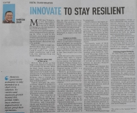 New Straits Times, June 4, 2020 - Innovate to Stay Resilient