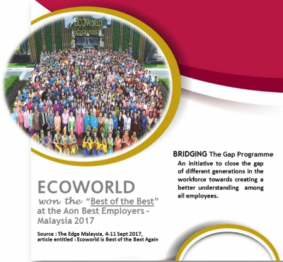 "Ecoworld won the ""Best of the Best"" at the Aon Best Employers - Malaysia 2017 (2017)"